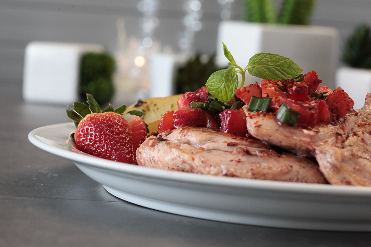 Pan-Fried Chicken Breasts with Strawberry Salsa