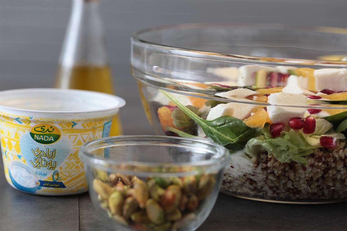 Quinoa Salad with Greek Yogurt Dressing